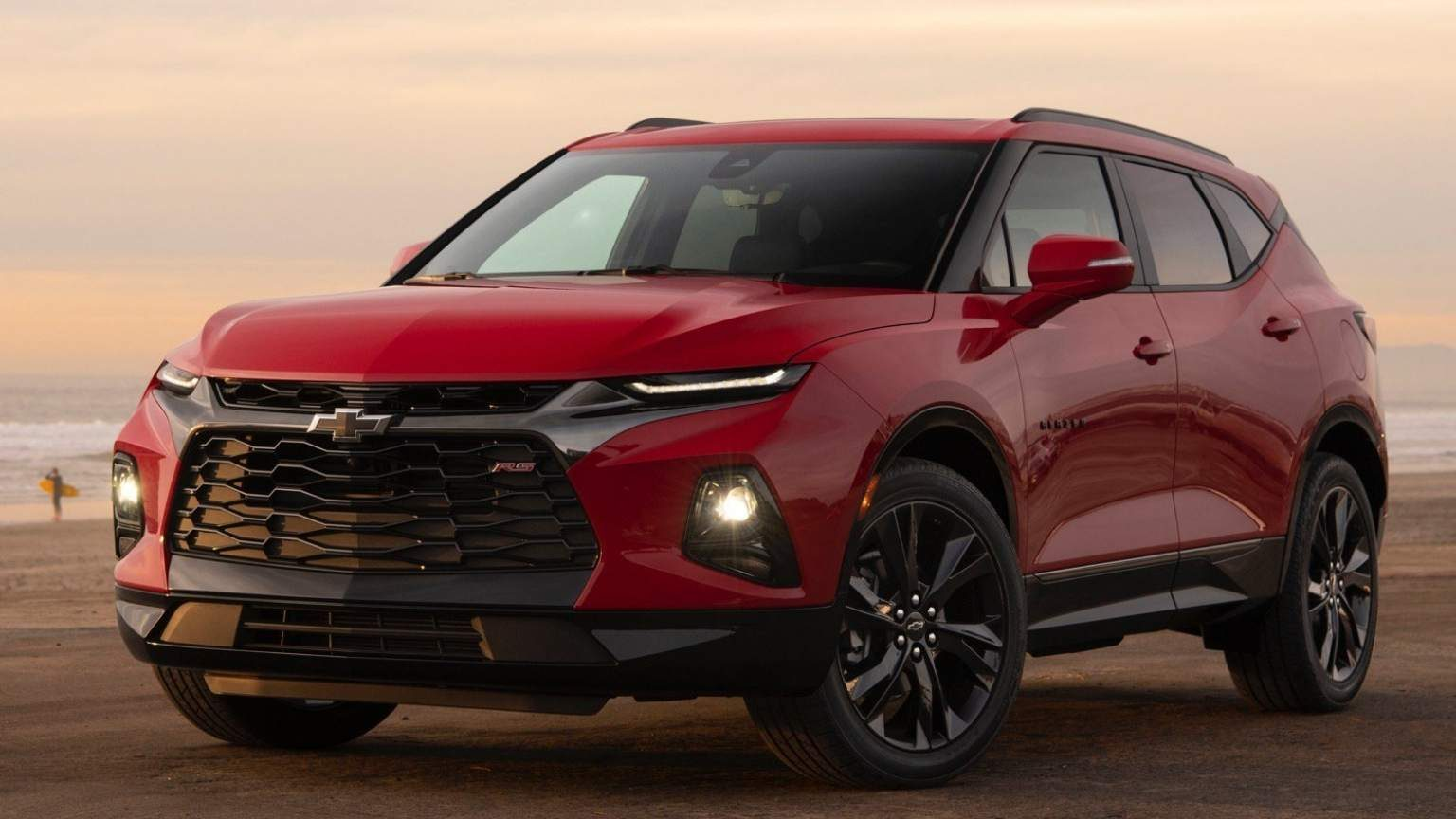 Red chevrolet blazer 2020