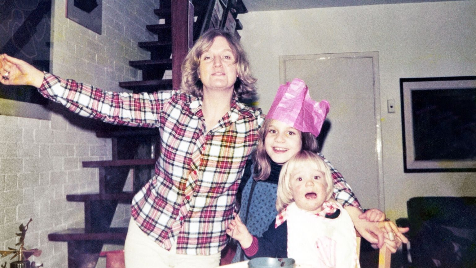 Mom With Kids Old Photo