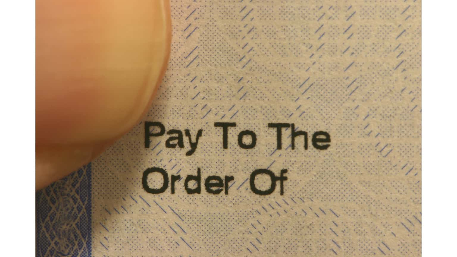 Paycheck close up