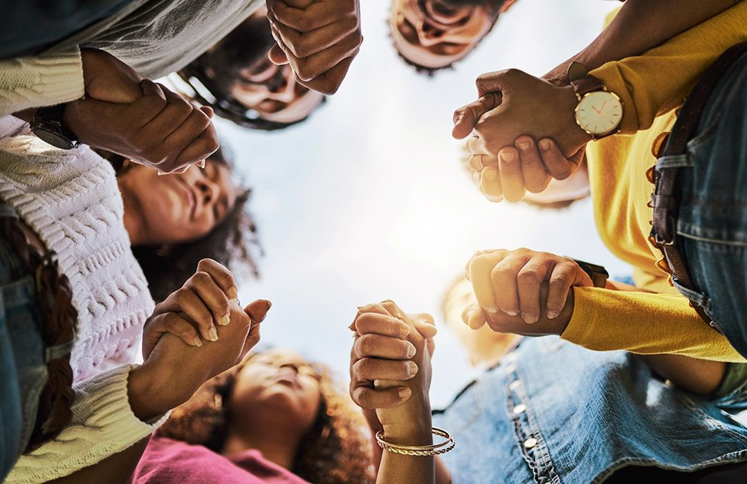 people in prayer