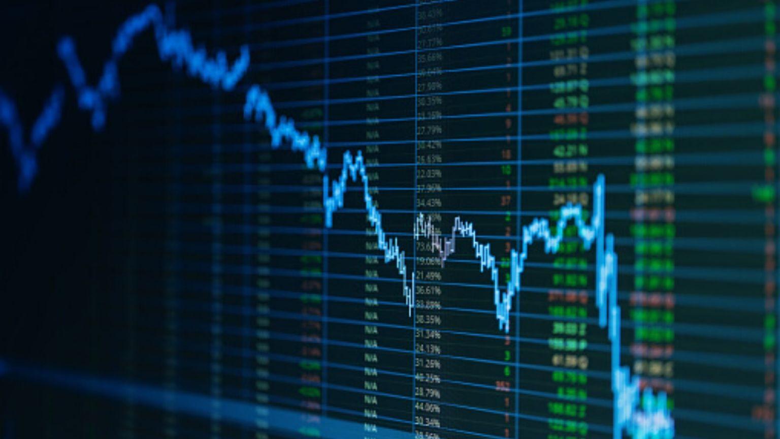 Full frame shot of stock market data