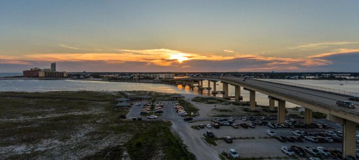 sunset on Alabama highway