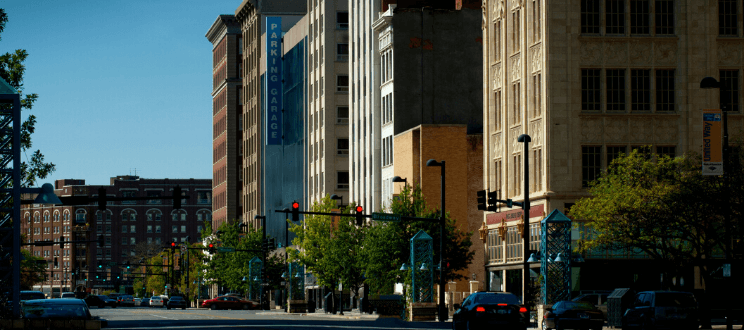 The center of commercial activity in historic Wichita was on the eastern end of Douglas Avenue. These historic buildings were built in the late 19th century in a Classical Revival style and reflected Wichita's prominence as a grain and railroad center.