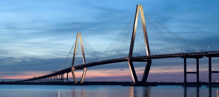 Ravenel Bridge (Cooper River Bridge) in Charleston SC