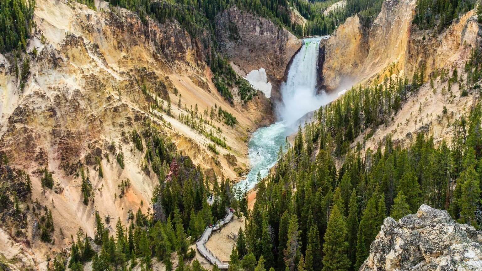 YellowStone Grand Canyon bird's eye view
