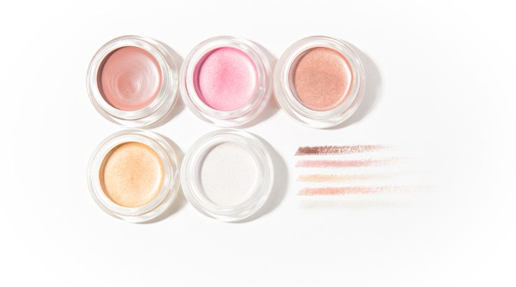 Cream eyeshadows pots and swatches