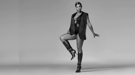 We're loving Serena Williams' Stuart Weitzman boot collection — and those bodysuits
