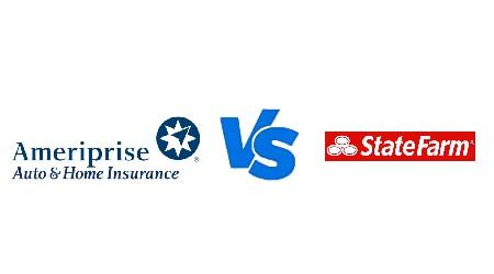 Compare Ameriprise vs State Farm car insurance