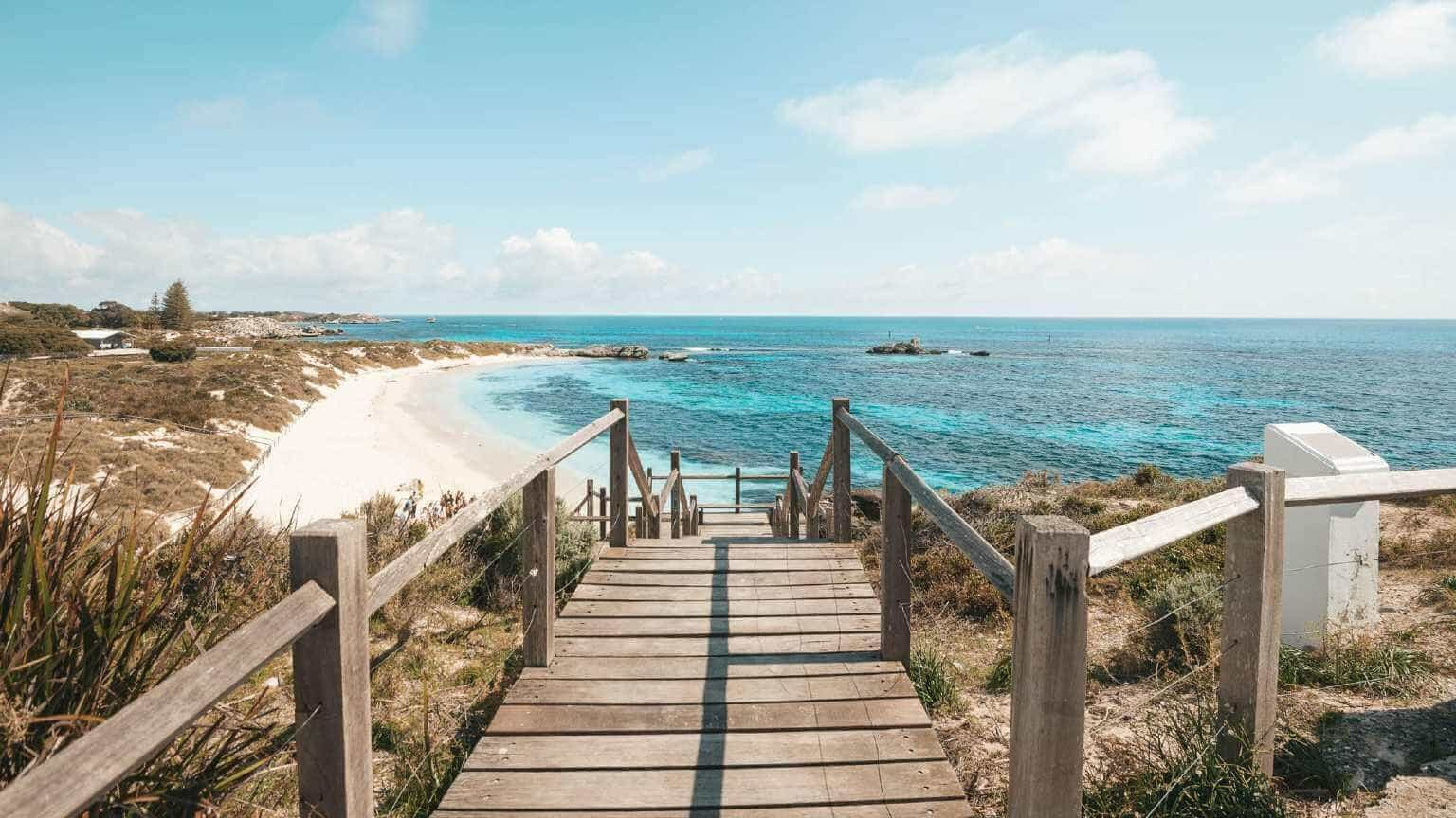 Rottnest Island beaches and walkways near Perth, Australia