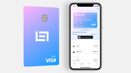 Use your loan balance immediately with the new LendFi Visa Card