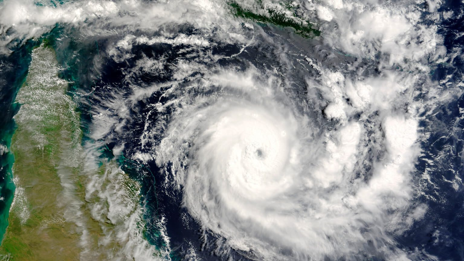 picture of a hurricane satellite view