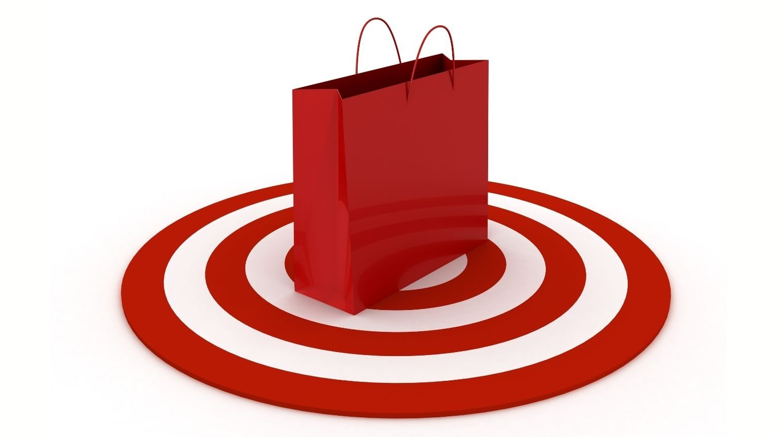 Red shopping bag on a target
