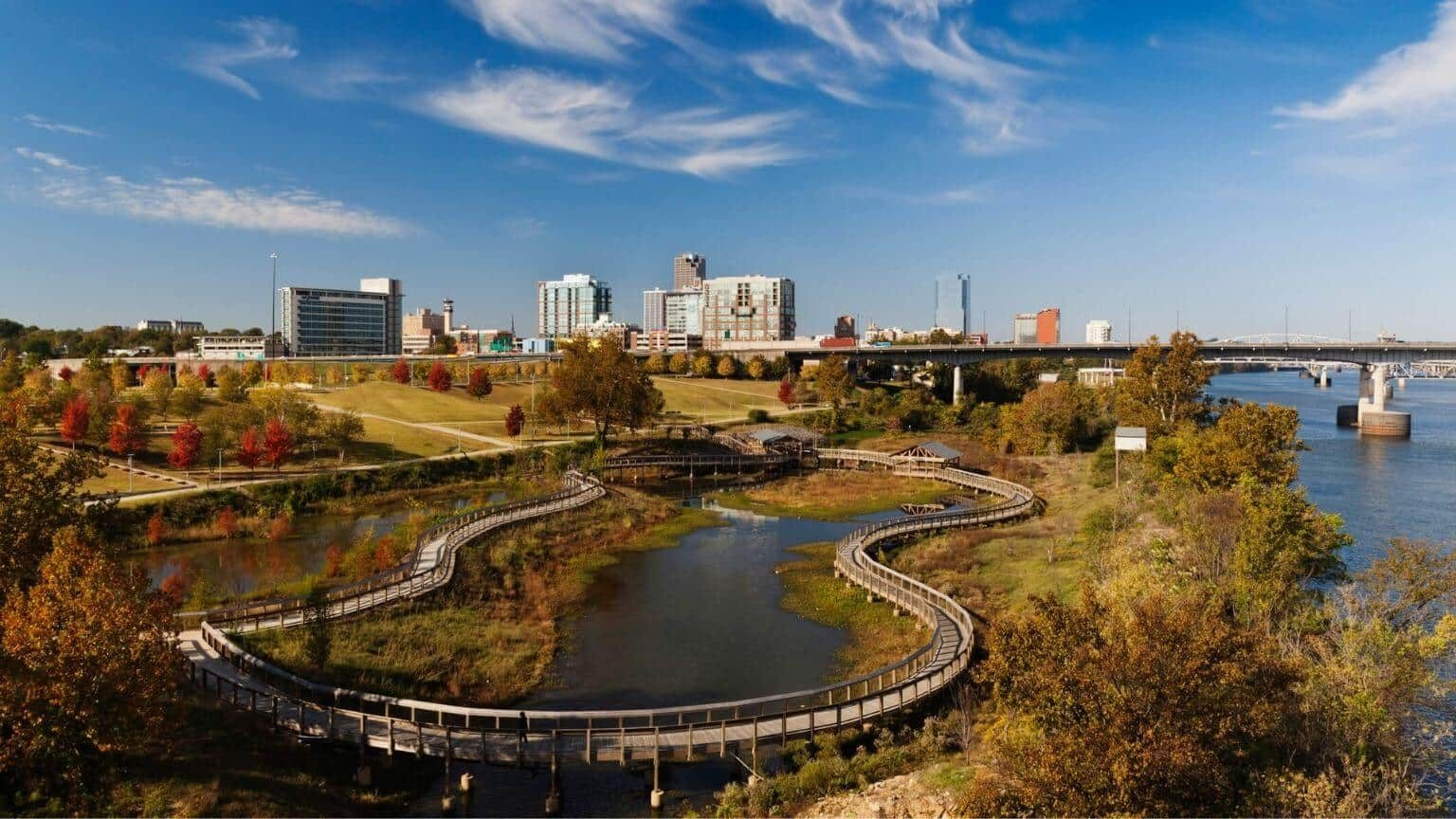 Little Rock City Skyline Arkansas