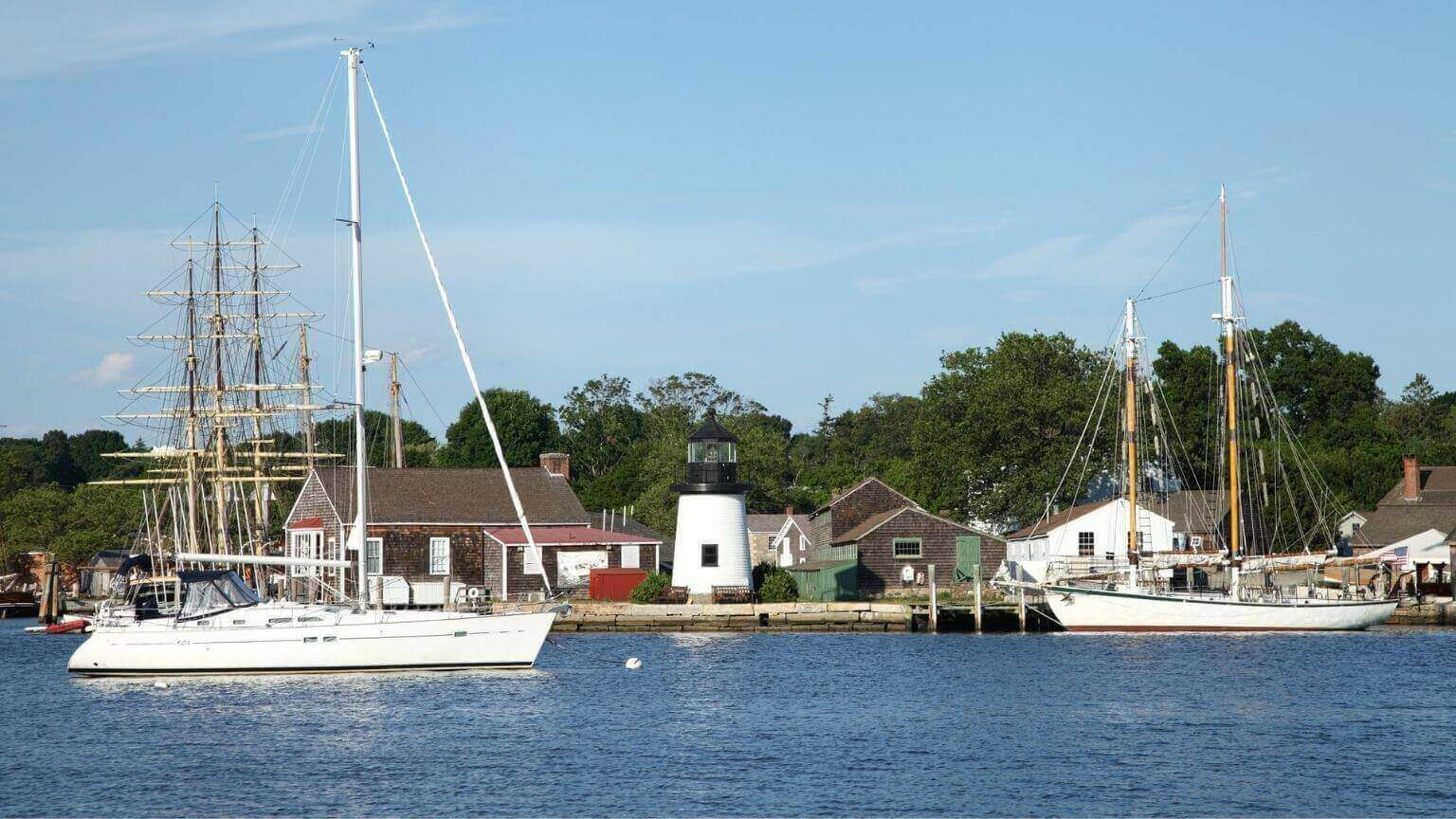 Mystic Seaport in New London County, Connecticut