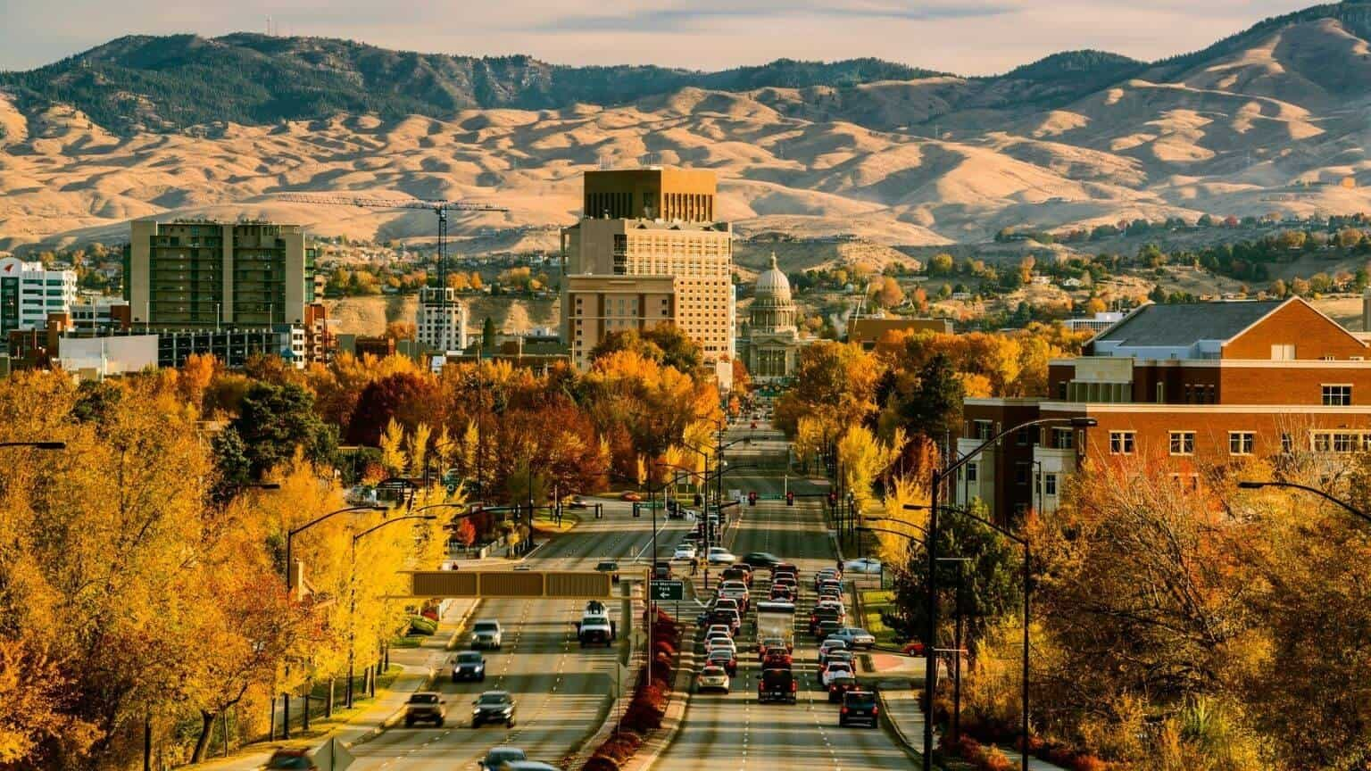 View of Boise downtown and Idaho Capitol