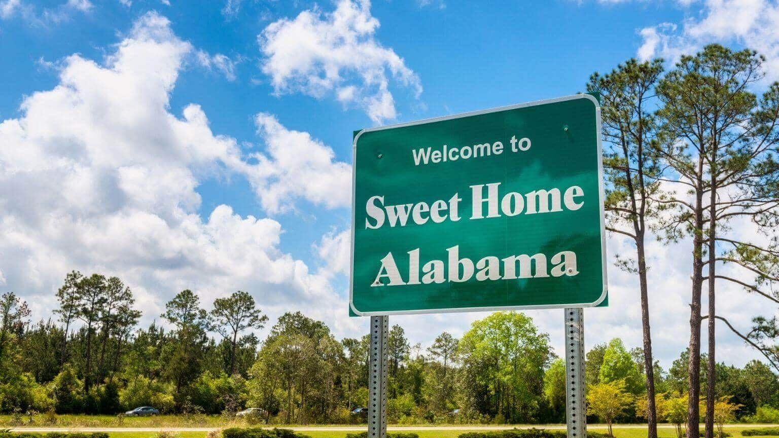 Welcome to Sweet Home Alabama Road Sign in Alabama
