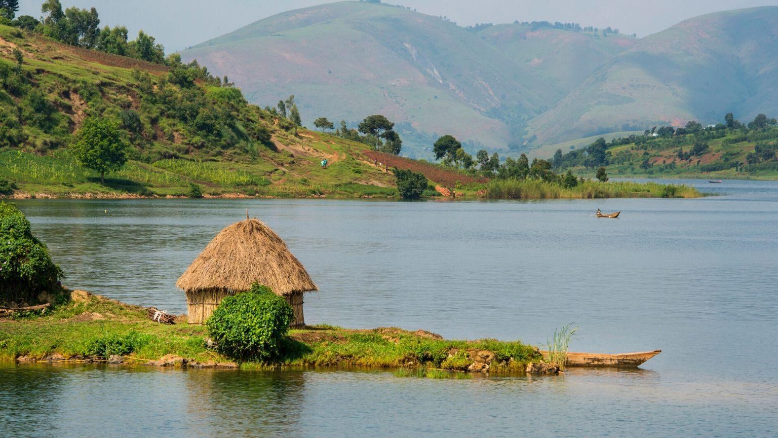 Lake Kivu in Congo DRC