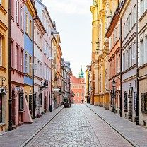 Street in Old Town Poland