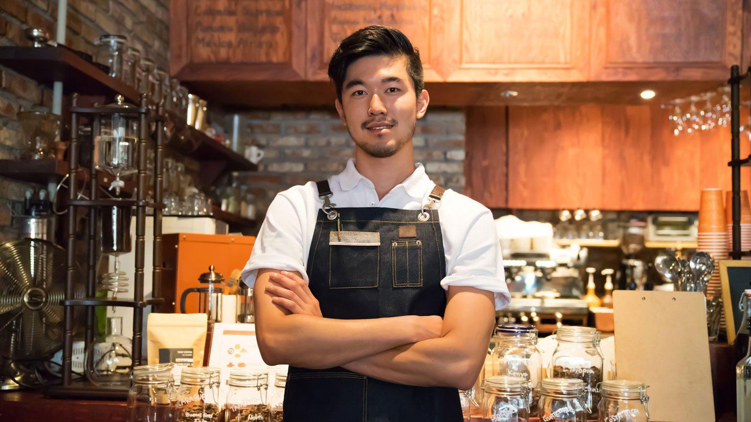 Cafe business owner
