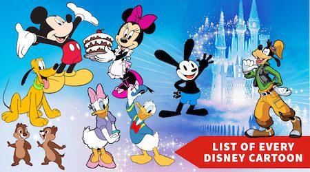 List of every Disney cartoon short film from 1921–2019