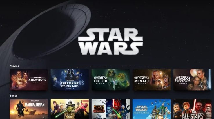 Full list of Star Wars content available on Disney+