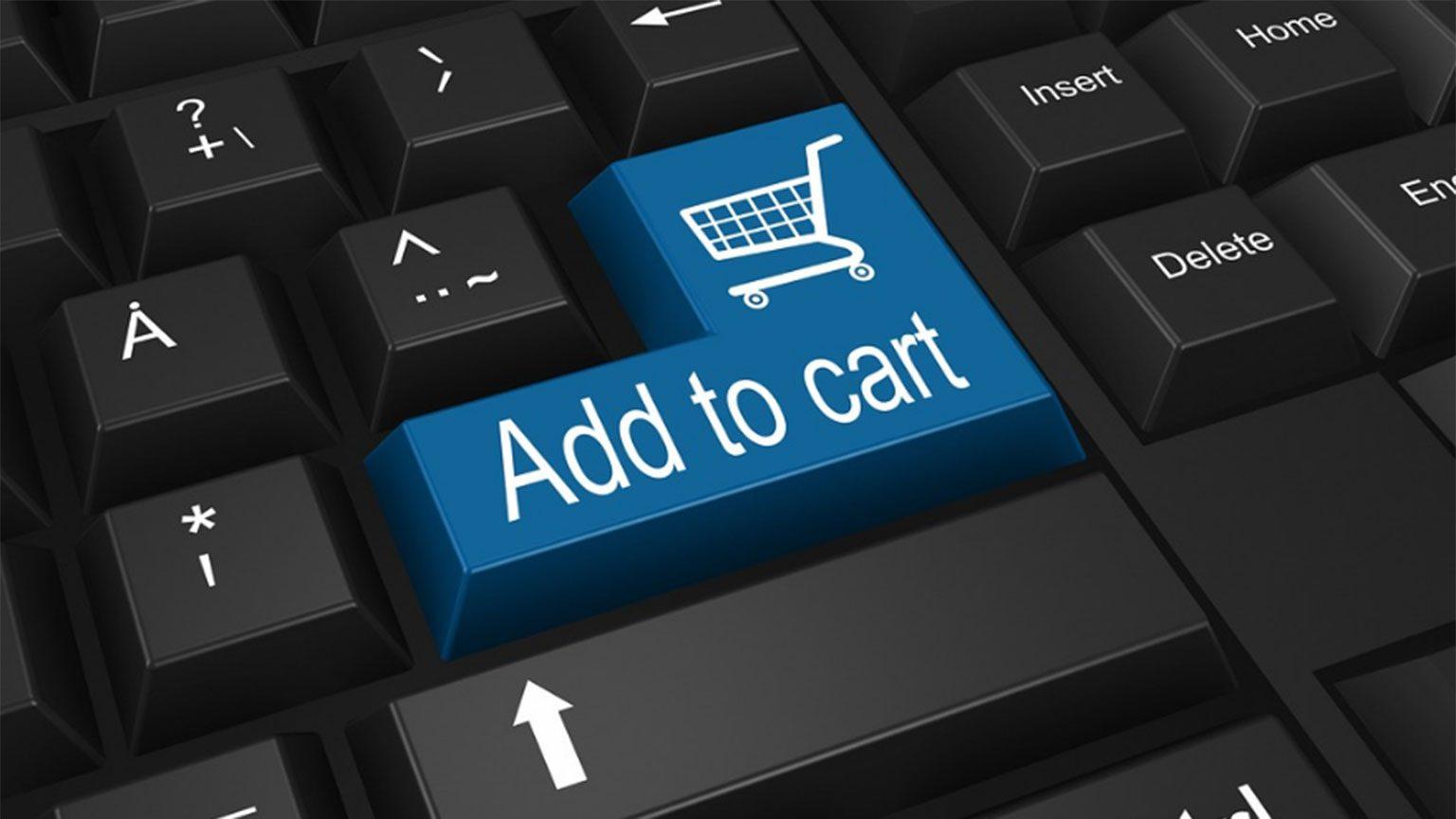 Add to cart keyboard