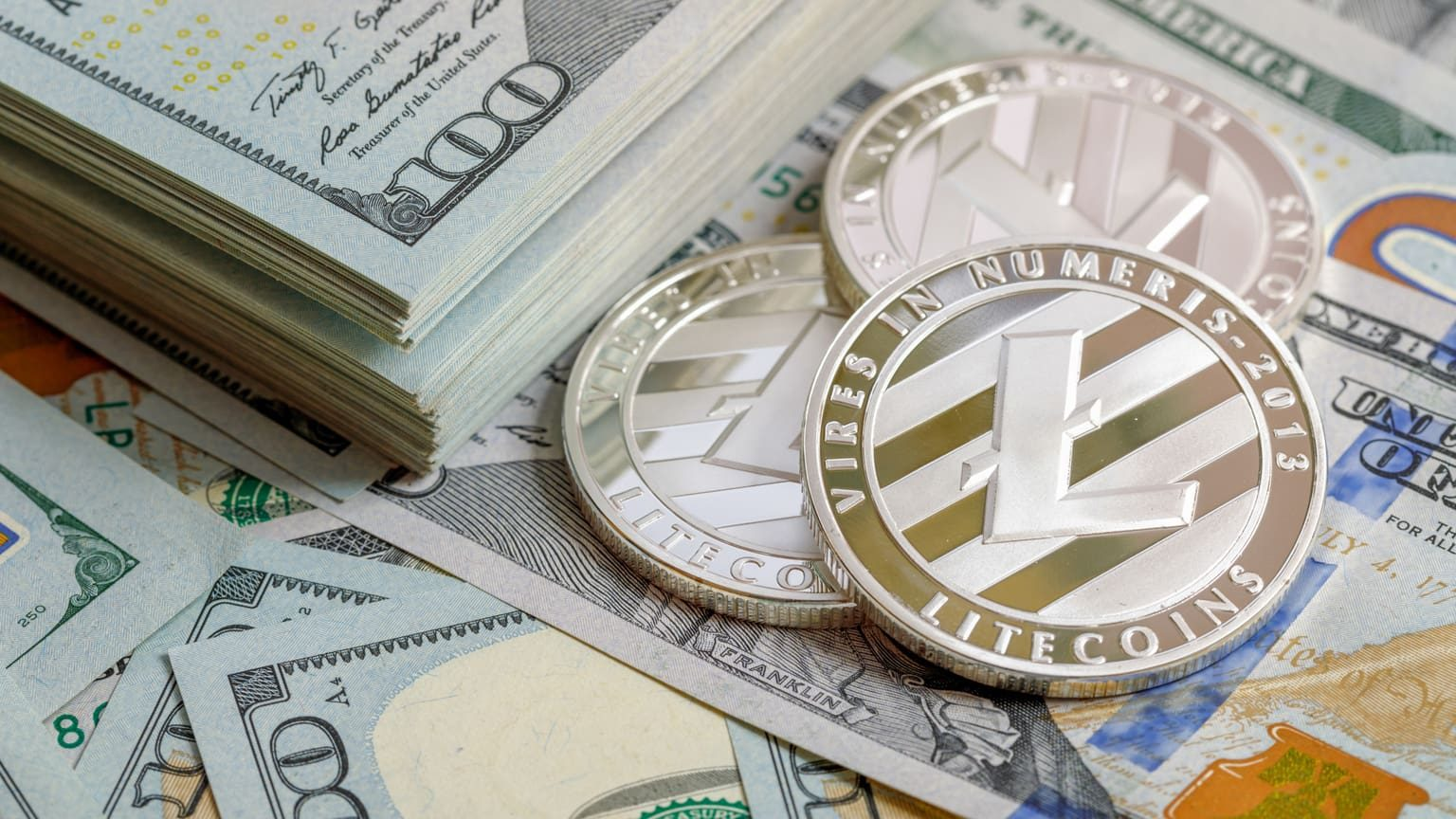 Litecoin on top of US dollars