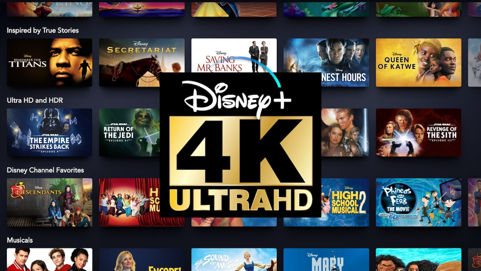 Disney Plus 4K List M