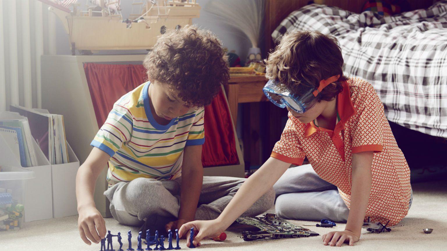 Children playing game