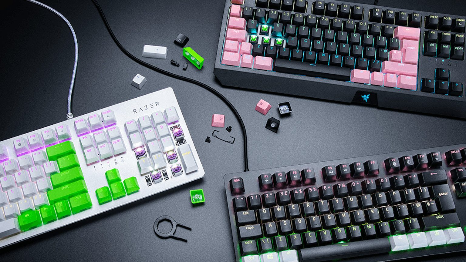 Razer keyboards.