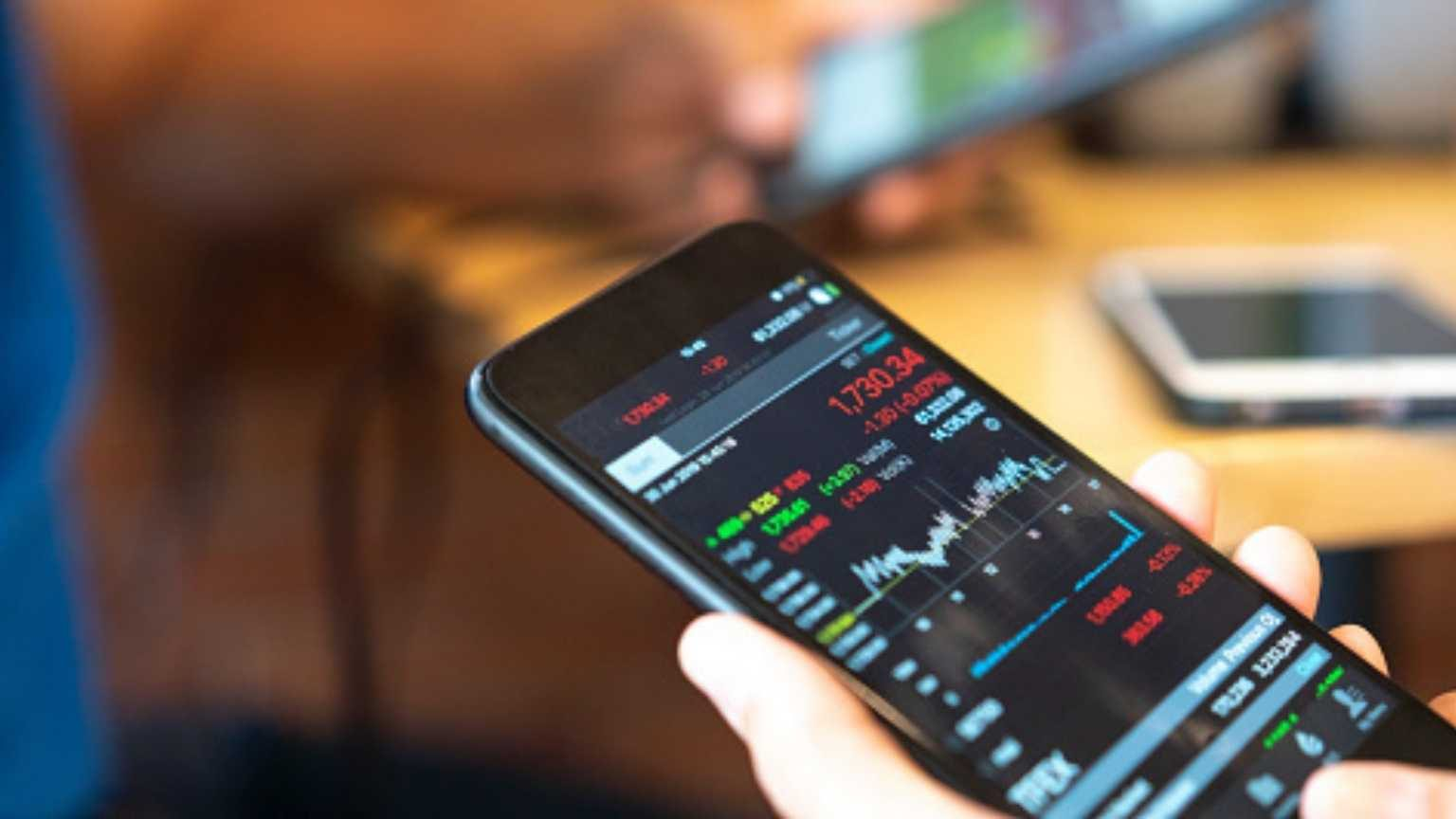 Checking share prices using phone