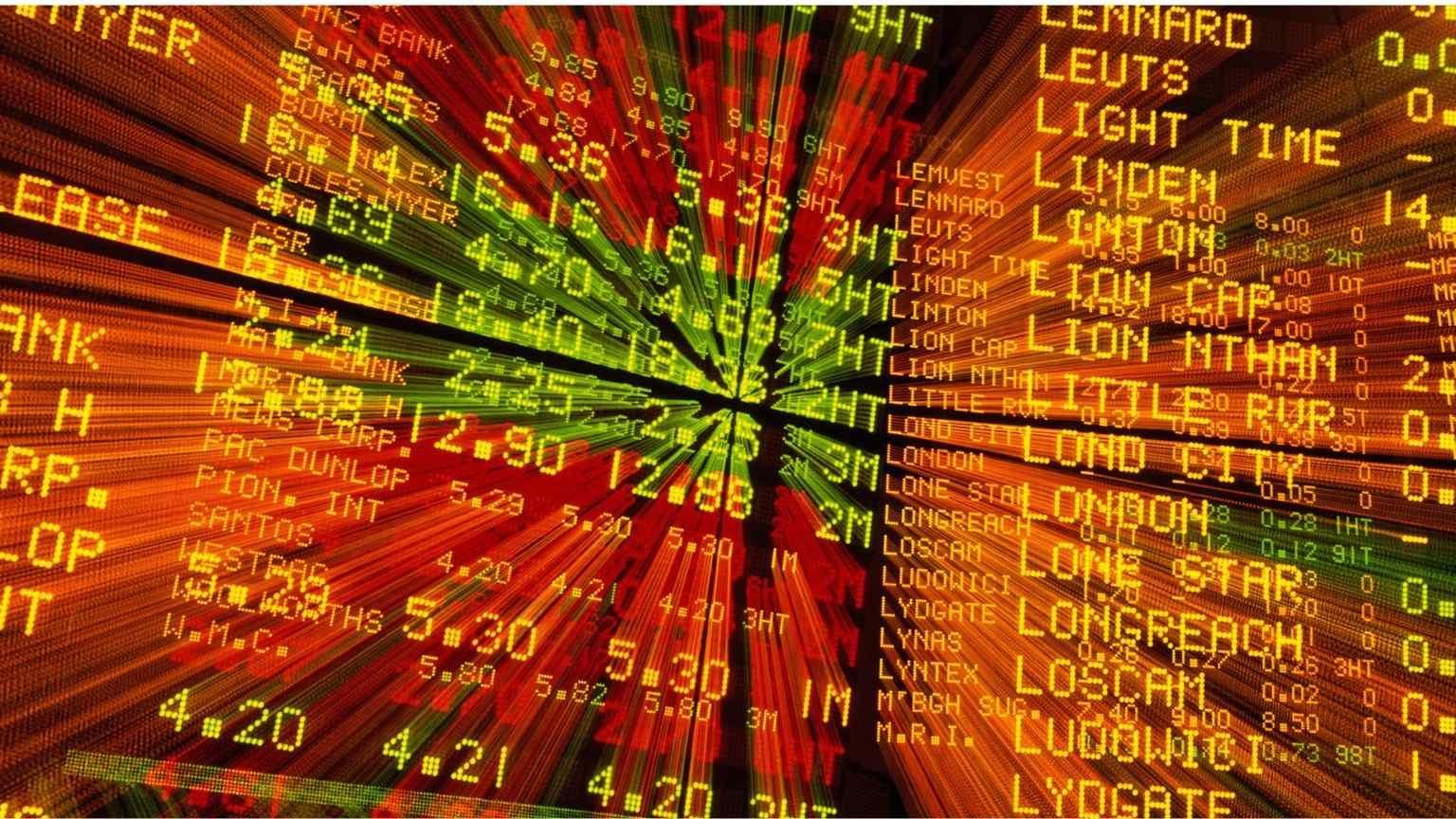 Internal view of the Australian Stock Exchange