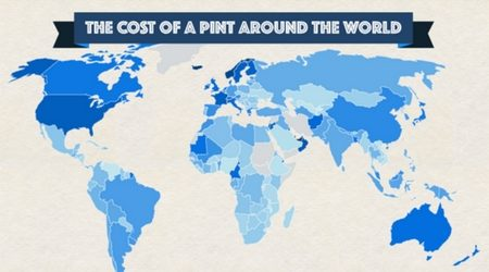 Map: The cost of a pint of beer around the world