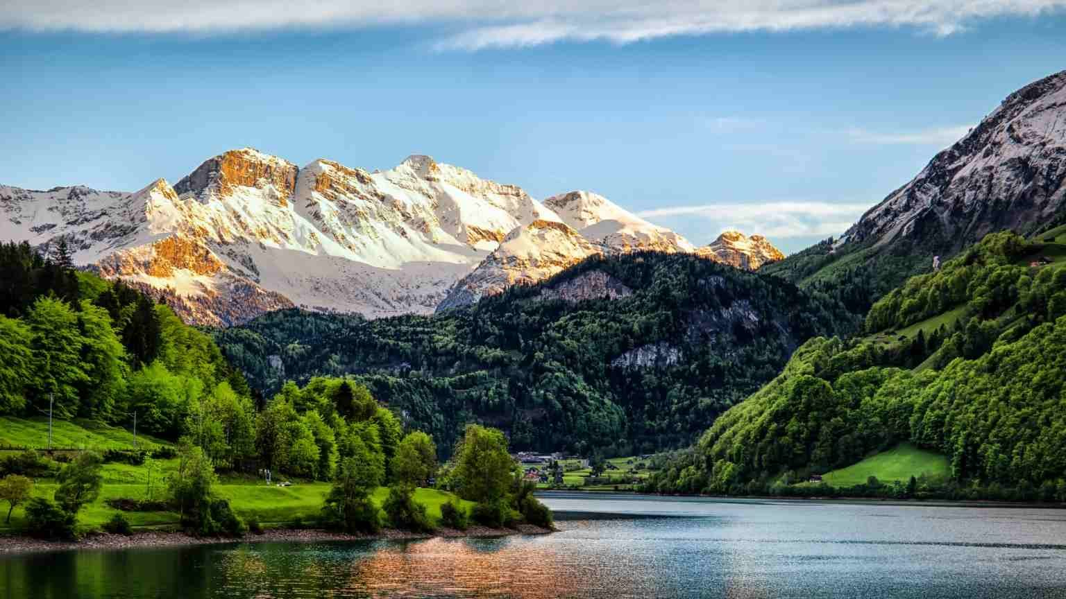 The Berner Oberland, is the higher part of the canton of Bern, Switzerland, in the southern end of the canton, and one of the canton's five administrative regions.