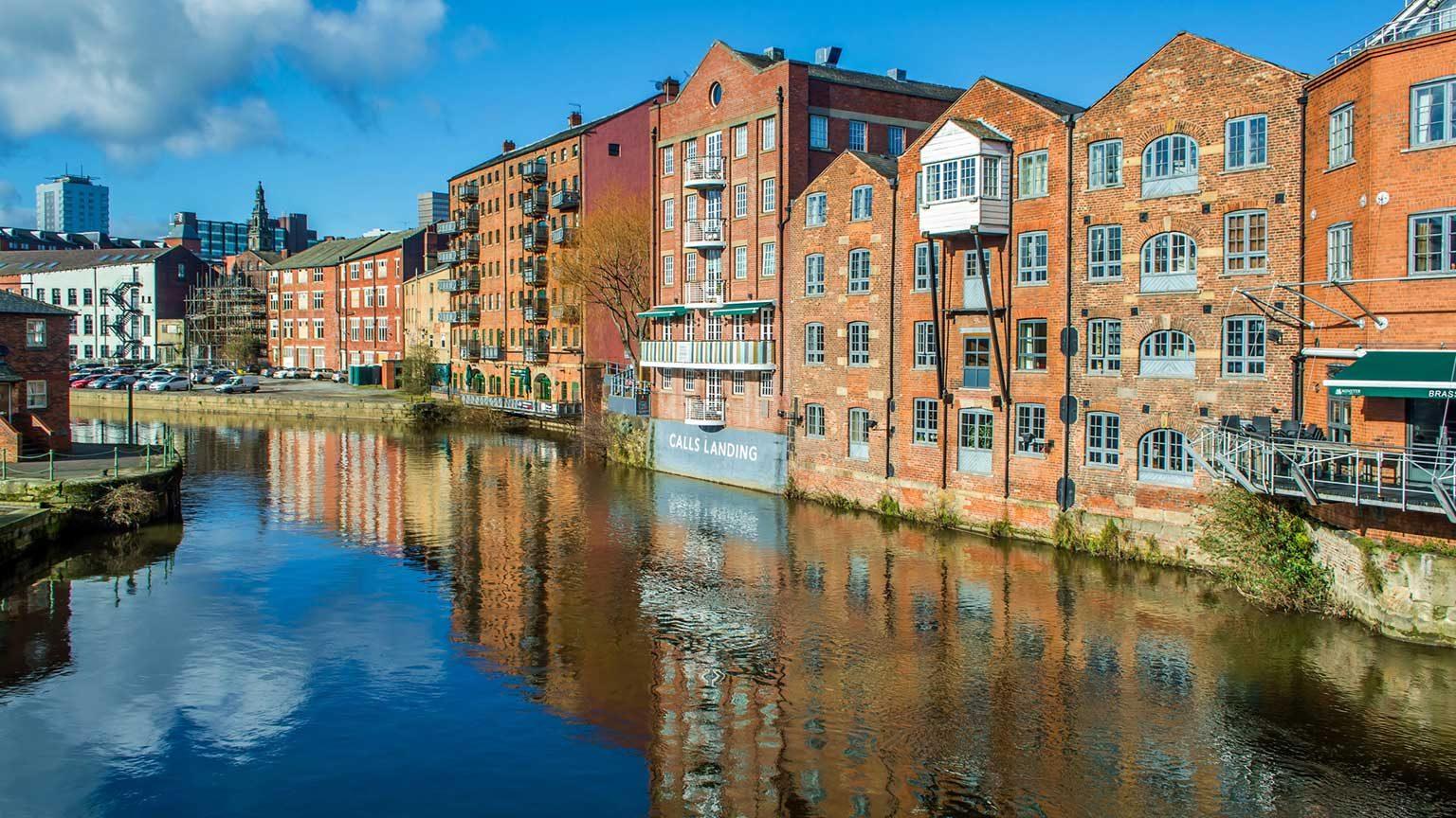 Watersways in Leeds.