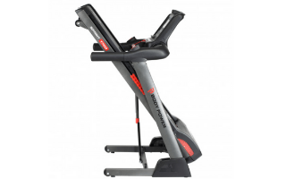 A third view of the Body Power Sprint T700 Folding Treadmill with Tablet Holder