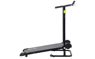 A fourth view of the Opti Non-Motorised Folding Treadmill