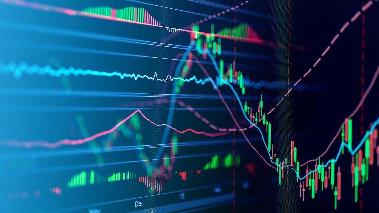 Virtual stock market graphs