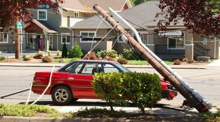 Compare car insurance coverage for hitting a pole