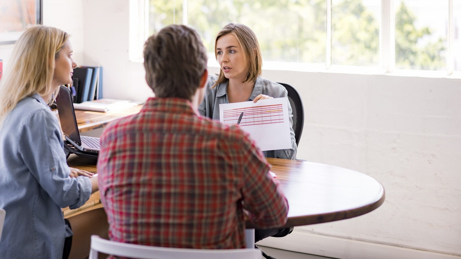 Couple meeting with financial professional