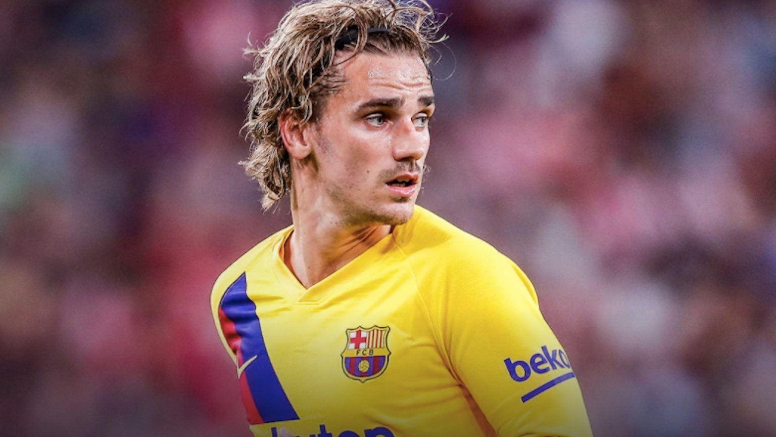 Antoine Griezmann from Barcelona in action.