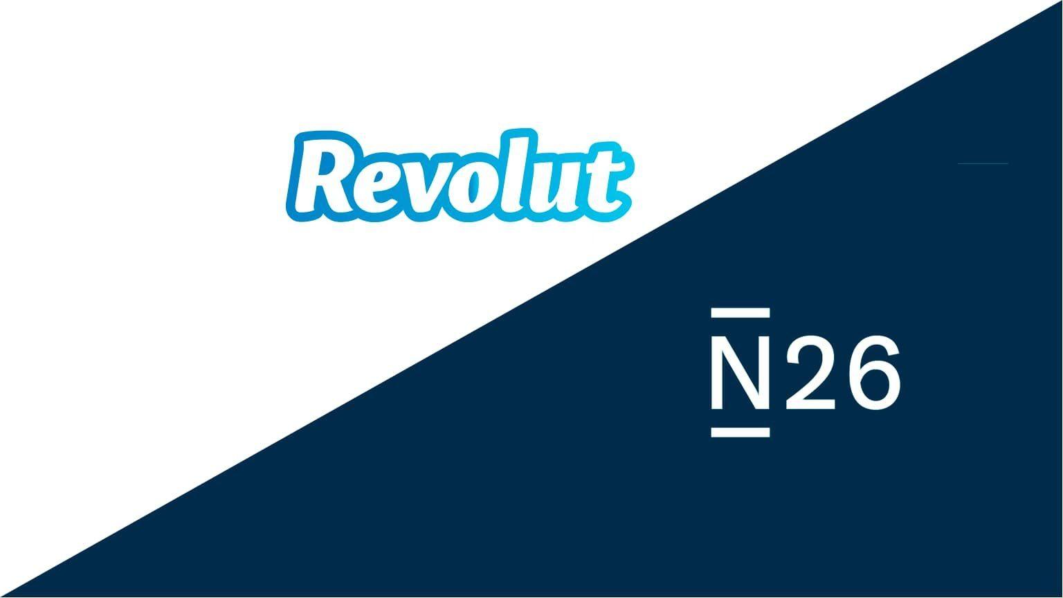 Revolut and N26 logos