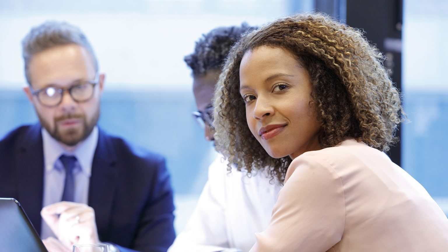 Woman meeting with a financial advisor at a bank