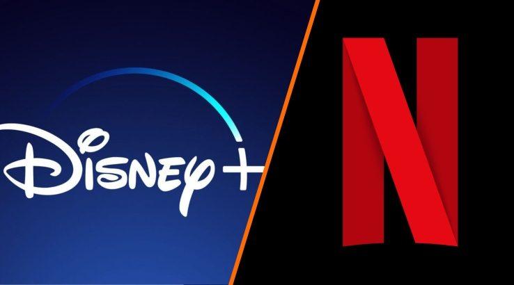 Disney+ vs. Netflix logos
