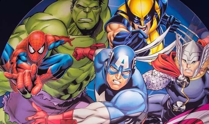 Marvel superheroes comic style
