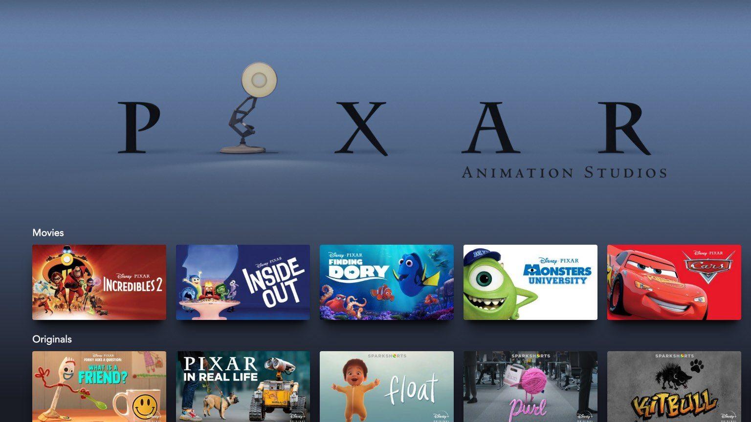 Pixar films lineup