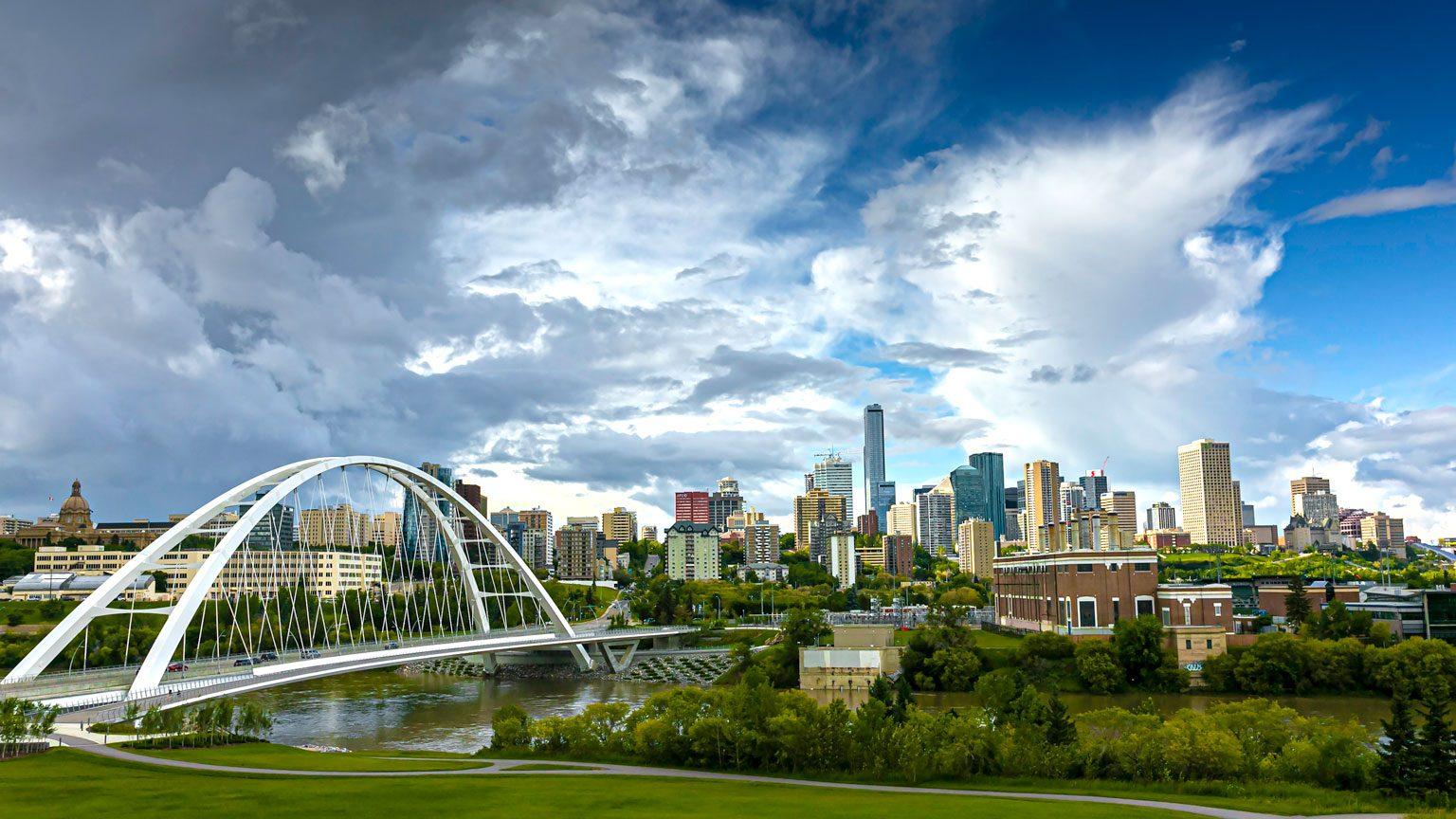 Walterdale Bridge and Edmonton Skyline