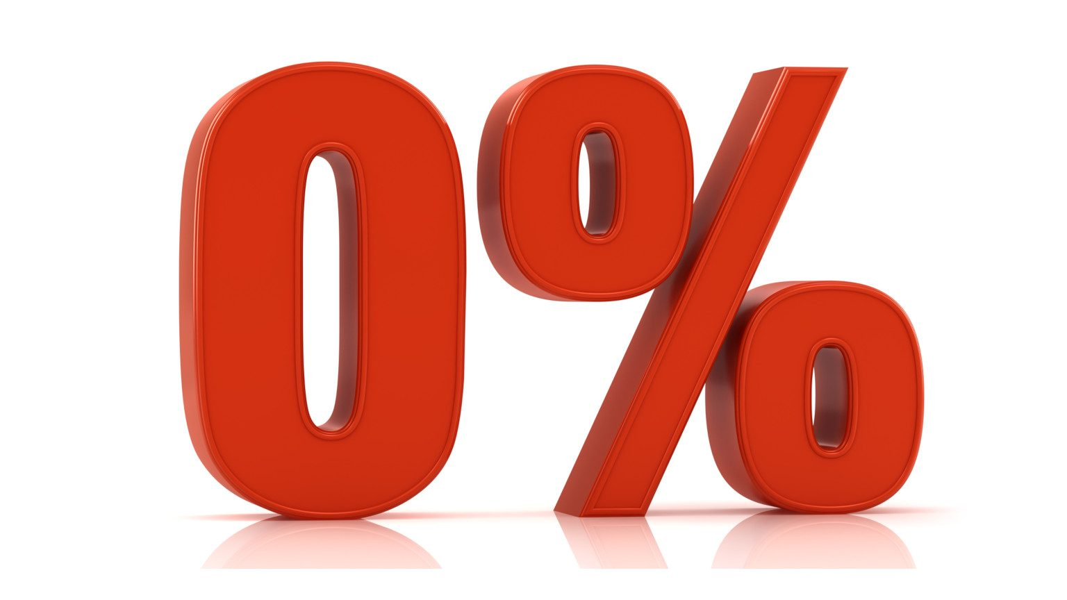 Red zero percent sign