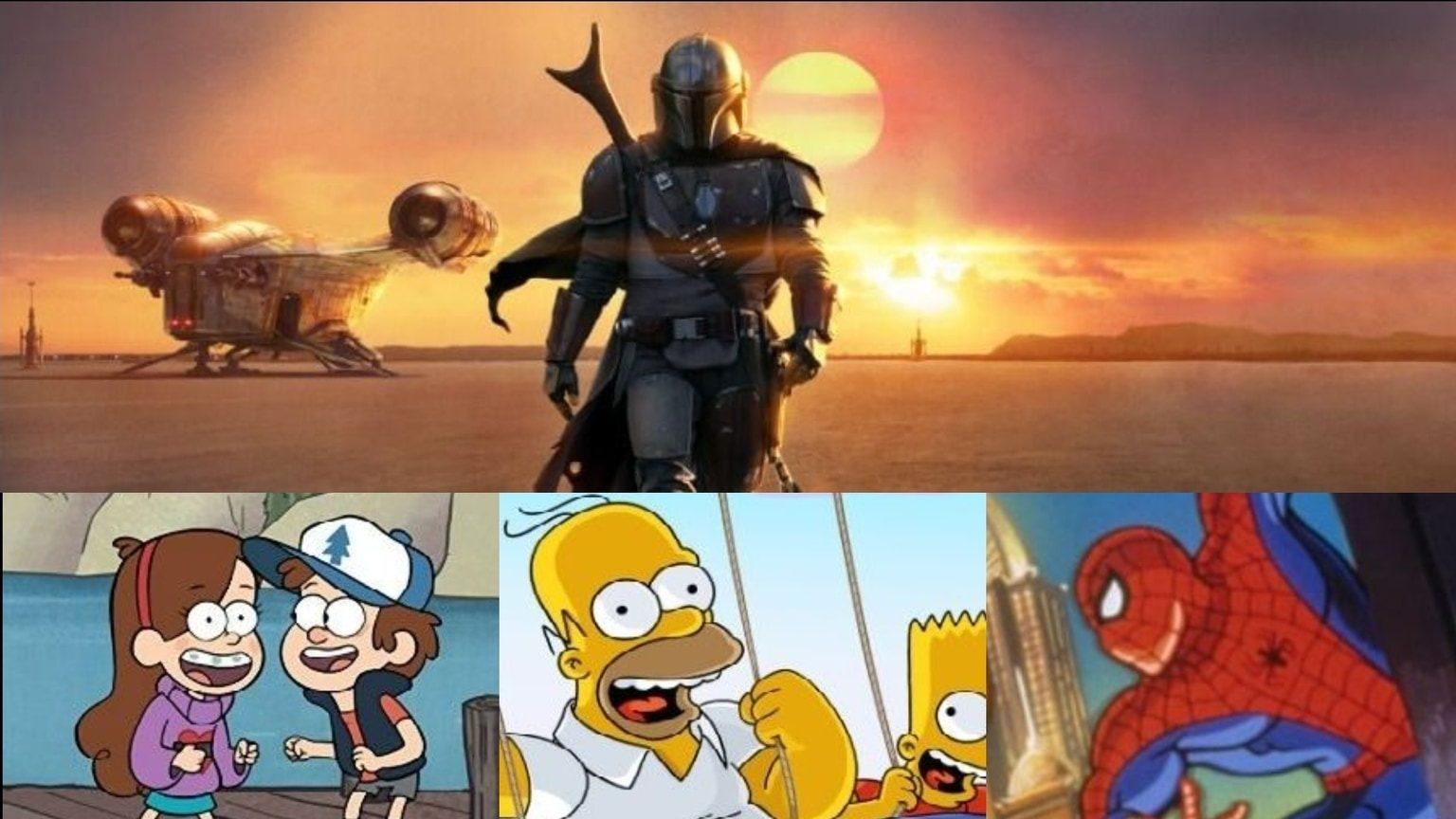 Collage of Disney Plus TV shows