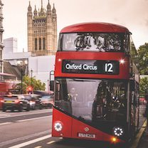 Bus in London, UK